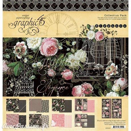 Papier scrapbooking assortiment Graphic 45 Elegance Collection Pack 16fe 30x30