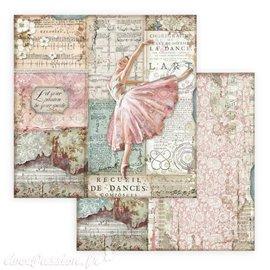 Papier scrapbooking réversible Stamperia Passion danseuse 30x30