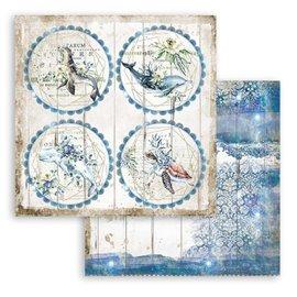 Papier scrapbooking Romantic Sea Dream tournées Stamperia 30x30 réversible