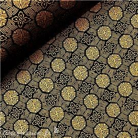 Papier japonais chiyogami motifs noir et doré
