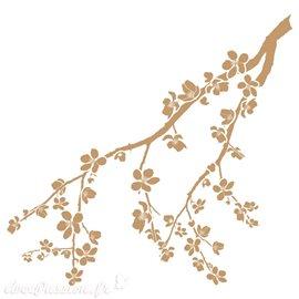Pochoir décoratif Branche de fleurs 20x30cm