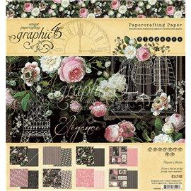 Papier scrapbooking assortiment Graphic 45 Elegance Paper Pad 24fe 20x20