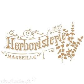 Pochoir décoratif Herboristerie 20x30 dessin 14x28cm