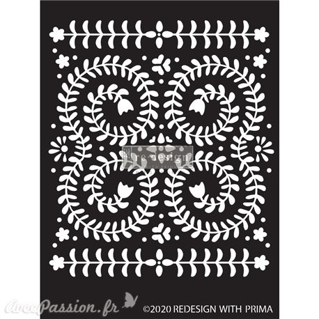 Pochoir décoratif Redesign Elegant vine 22x33cm 0.8mm