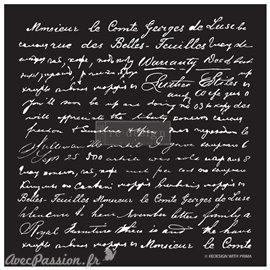 Pochoir décoratif Redesign Script 45x53cm 0.8mm