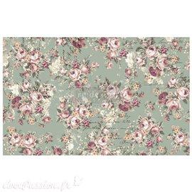 Papier de murier mulberry Redesign Floral Text 48x76cm