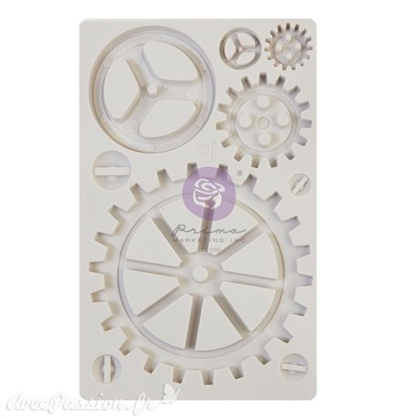 Moule silicone Finnabair Large Gears 12x20cm