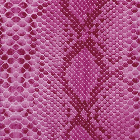 Feuilles décopatch fond croco rose