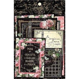 Die Cuts carton Graphic 45 Elegance Journaling Cards