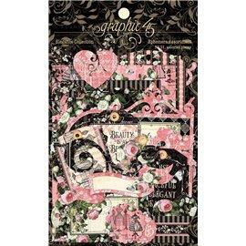 Die Cuts carton Graphic 45  Elegance Ephemera Assortment