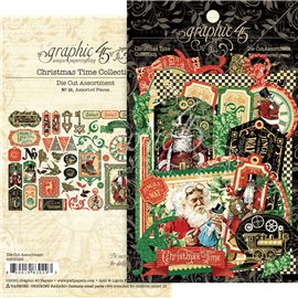 Die Cuts carton Graphic 45 Christmas Time Assortment