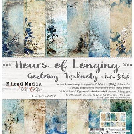 Papier scrapbooking assortiment Craft O Clock 12fe 30x30 Hours Of Longing