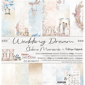 Papier scrapbooking assortiment Craft O Clock 12fe 30x30 Wedding Dream