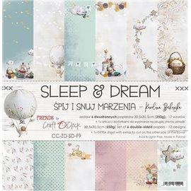 Papier scrapbooking assortiment Craft O Clock 12fe 30x30 Sleep & Dream