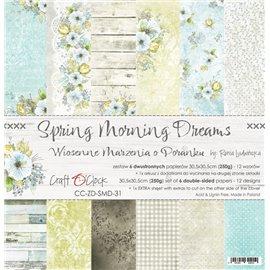 Papier scrapbooking assortiment Craft O Clock 12fe 30x30 Rêves Du Matin De Printemps