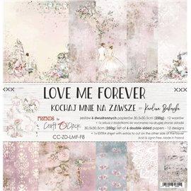 Papier scrapbooking assortiment Craft O Clock 12fe 30x30 Love Me Forever