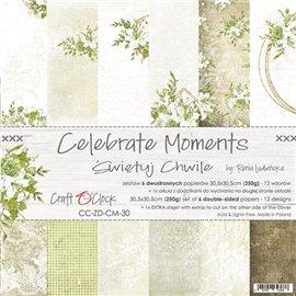 Papier scrapbooking assortiment Craft O Clock 12fe 30x30 Célébrer Les Moments