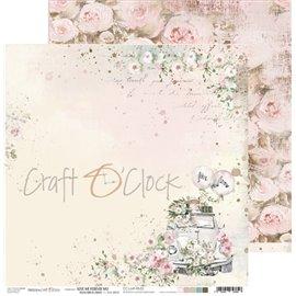 Papier scrapbooking réversible Craft O Clock 30x30 Love Me Forever - 02