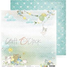 Papier scrapbooking réversible Craft O Clock 30x30 Paws Of Happiness - 03