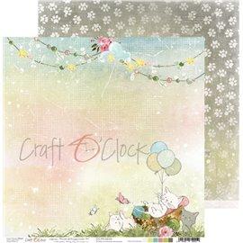 Papier scrapbooking réversible Craft O Clock 30x30 Paws Of Happiness - 04