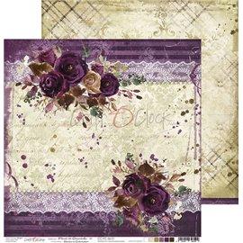 Papier scrapbooking réversible Craft O Clock 30x30 Prune En Chocolat - 01