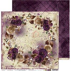 Papier scrapbooking réversible Craft O Clock 30x30 Prune En Chocolat - 06