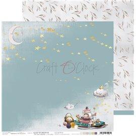 Papier scrapbooking réversible Craft O Clock 30x30 Sleep & Dream - 01