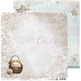 Papier scrapbooking réversible Craft O Clock 30x30 Sleep & Dream - 06