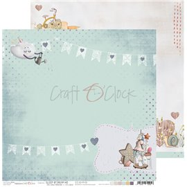 Papier scrapbooking réversible Craft O Clock 30x30 Sleep & Dream - 03