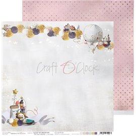 Papier scrapbooking réversible Craft O Clock 30x30 Sleep & Dream - 04