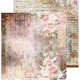 Papier scrapbooking réversible Craft O Clock 30x30 Vintage Treasure - 06