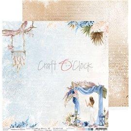 Papier scrapbooking réversible Craft O Clock 30x30 Wedding Dream - 03