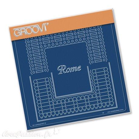 Groovi gabarit traçage & piquage parchemin Rome 15x15cm