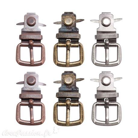 Embellissements métal Tim Holtz boucles de ceinture 6pcs