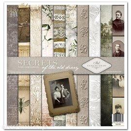 Papier scrapbooking Secrets assortiment 1 tag + 10 feuilles 30x30