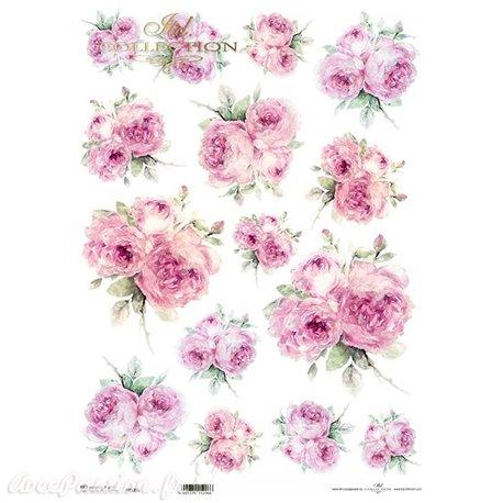 Papier de riz fleurs A3