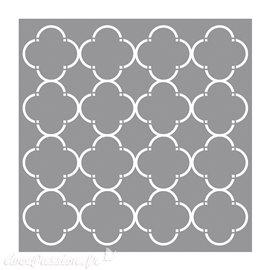 Pochoir décoratif Alvéoles à la mode 30.5x30.5cm