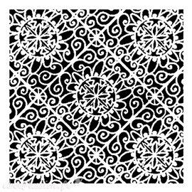 Pochoir plastique Lacy Tiles 15x15cm