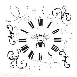 Pochoir plastique Bee On Time 15x15cm