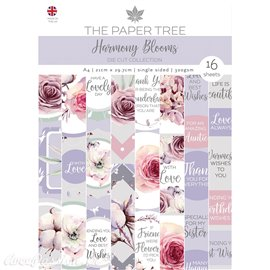Papier scrapbooking Paper Boutique A4 Harmony Blooms die cut collection 16fe