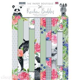 Papier scrapbooking Paper Boutique A4 Rainbow Buddies collection 40fe
