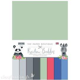 Papier scrapbooking Paper Boutique A4 Rainbow Buddies uni 24fe