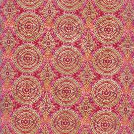 Feuilles décopatch motif oriental rose orange