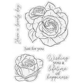 Tampon clear stamps Crafter's Companion have a lovely day 9x14cm
