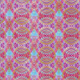 Feuilles décopatch motif oriental rose turquoise et doré