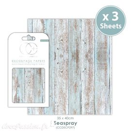 Papier de découpage Craft Consortium Seaspray 3fe de 35x40cm