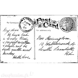 Tampon caoutchouc Crafty Individuals A Vintage Postcard 10x6cm