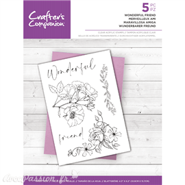 Tampon clear stamps Crafter's Companion Wonderful Friend 11x15.7cm