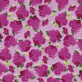 Feuilles décopatch fond rose roses rose foncés