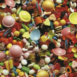 Feuilles décopatch bonbons anglais